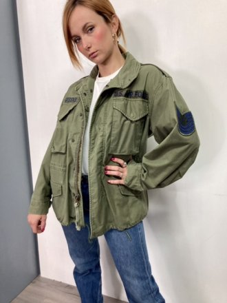 Field Jacket originale M65 Donna Small extra short colore verde