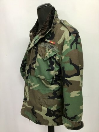 Field jacket M65 ORIGINALE  con interno e collo staccabili in persiano Swakara