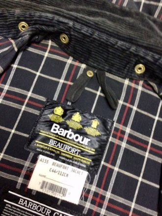 "Barbour ""Beaufort  Blu C44"